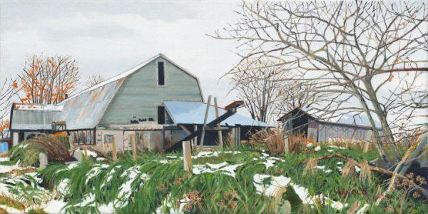 Arnold_Louise_First_Snow_(Center_Road_Farm)_12__x_24__oil