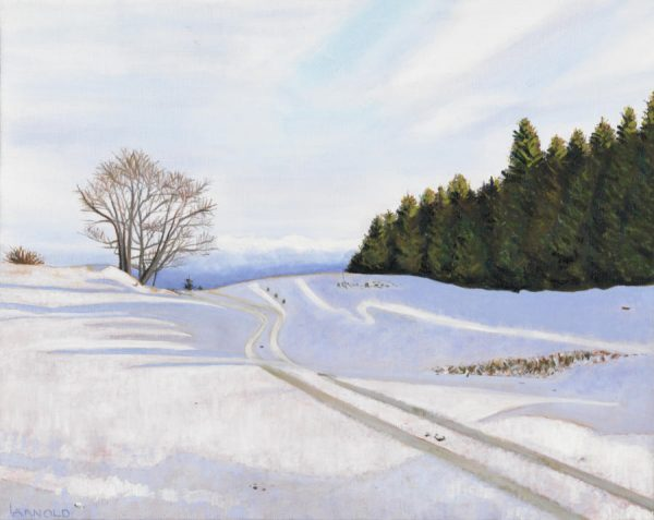 Arnold_Louise_first_snow_Barr_Hill_17x21_oil