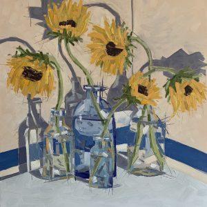 Santiago_Carlos_Election_Sunflowers_20x20_oil