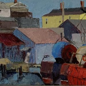 Wolahan_Janet_Gloucester_Draggers_18x36_oil