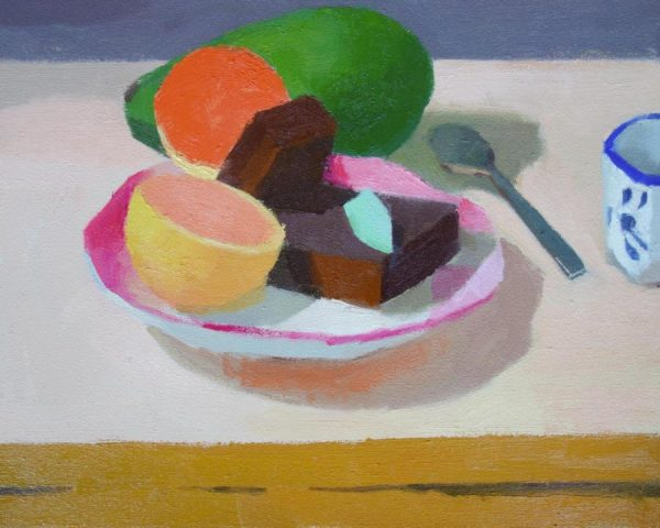 Yang_Hong_Pink_Guava,_Avocado_and_Brownies_8x10_oil_(1)