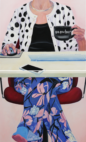 kang_kaffee_working_from_home_(diptych)_40x24_oil