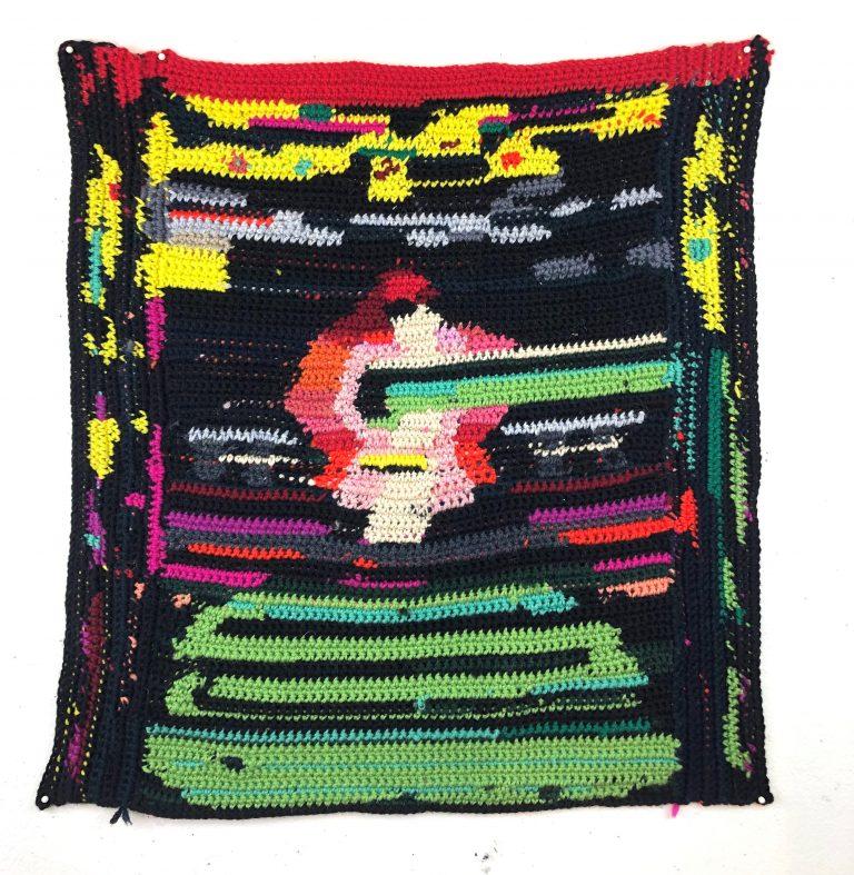 elizabeth thach, crochet, fiber art, non-representational art, artist talk