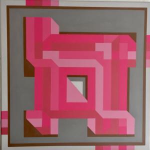 Chadbourne Mark Rose Deconstruction 20x20 acrylic