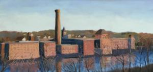 Collins Cathy Watch factory farm 17x26 pastel