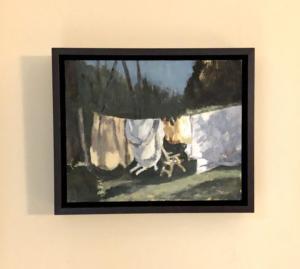 Gallagher Martha ann s laundry 11.5x11.5 gouache