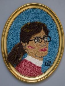LYNN CUNNINGHAM Self Portrait Hooking; 16 x 13 inches $800
