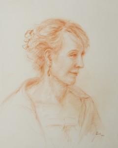SUSAN SIRIS WEXLER, Portrait of Andrew, sanguine pencil; 12 x 10 inches, $1,500