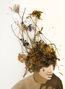 LAURIE SIMKO, Entangled, mixed media; 16 x 12 inches, $600