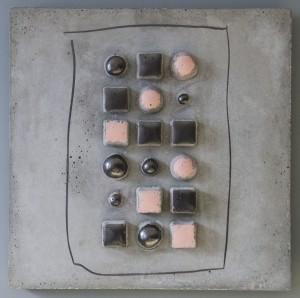 EUGENIE LEWAISKI BERG, Six Couples Concrete, oil pastel graphite; 16 x 16 Inches; $1,500