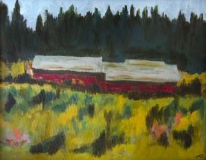 LYNNE YANSEN, Old Hay Barn in Puget Sound Acrylic; 11 x 14 inches; $250