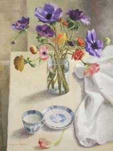 DORON PUTKA, Anemonies and Tea Oil on canvas; 18 x 24 inches; $1,450