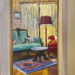 JEANINE SOBELL PASTORE, Cottage Memories #5 Oil on cradled panel; 13 x 13 inches; $1,150   ,