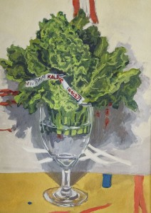 JANET MAXEY, Kale Gouache; 9 x 12 inches; $800