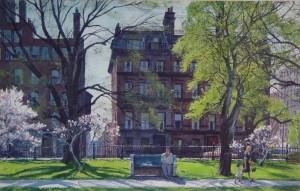 """Aiden Lassell Ripley, """"Arlington Street, Spring"""""""