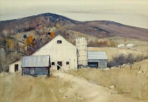 "Charles Curtis Allen, ""The White Barn"""