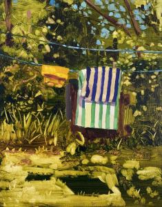 Striped Towel, 14x11 inches, Oil on canvas, 2020