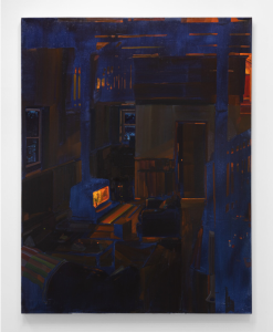 February Night, 54x42 inches, Oil on canvas, 2021