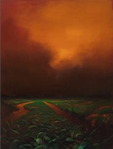 "March/Orange (#2031)2020, Oil on linen, 66"" x 48"", Photo: J. Featheringill, Contact: Abigail Ogilvy Gallery"
