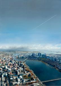 "Landscape/Boston (#2107)2021, Oil on linen, 66"" x 48"" Photo: J. Featheringill, Contact: Abigail Ogilvy Gallery"